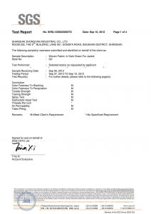 Geweven stof in donkergroen voor SGS-certificaat van vest