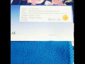 china fabriek 100% polyester fleece antistatische winterjas stof